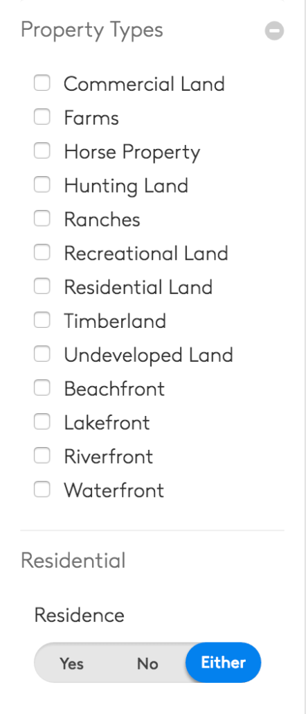 lands of america property types