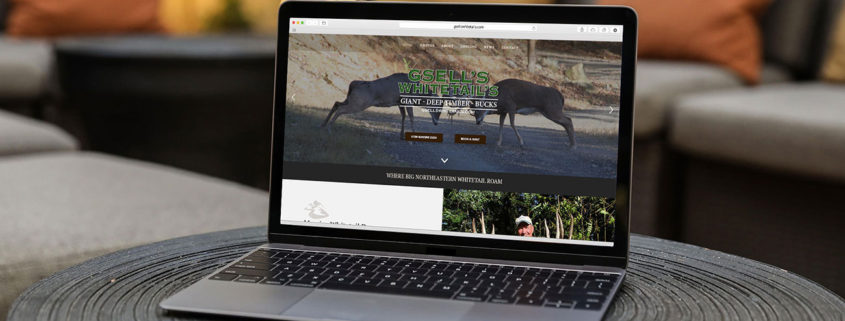 Website Design for Trophy Whitetail Hunt