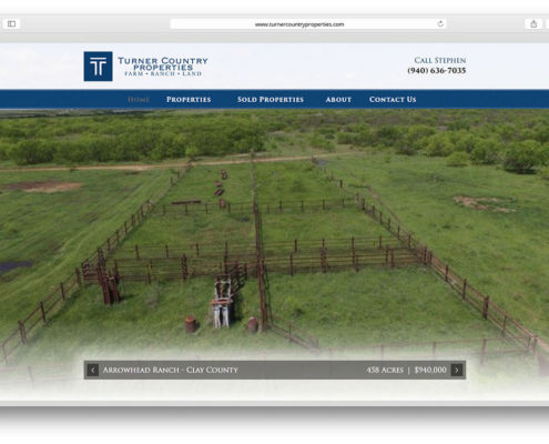 Land Broker Web Design- Turner Country Properties