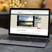 Custom land broker website