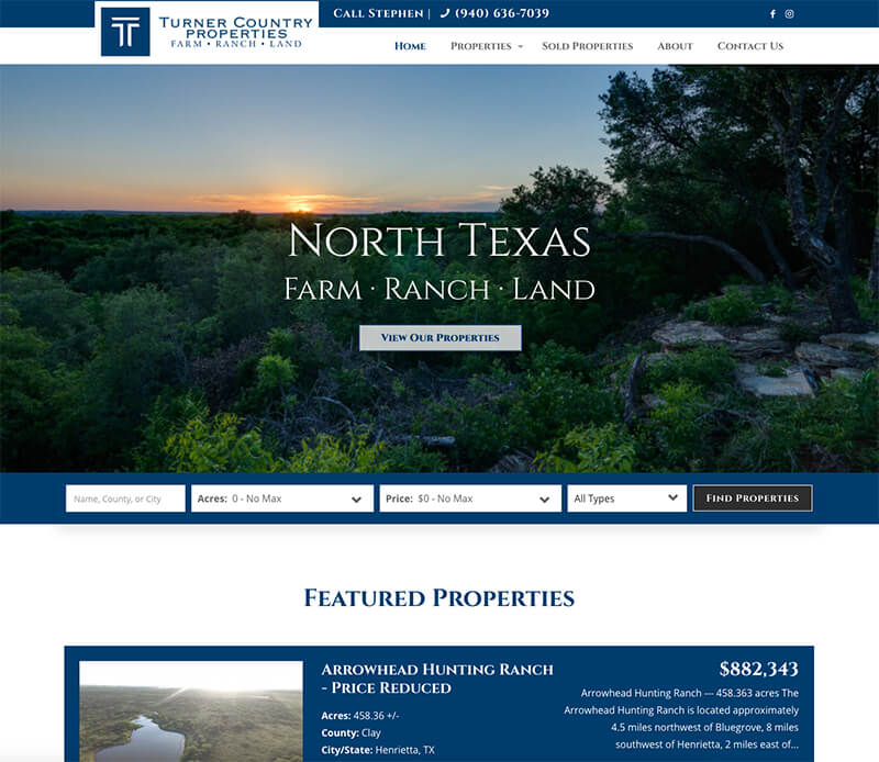 Farm & Ranch Website Design
