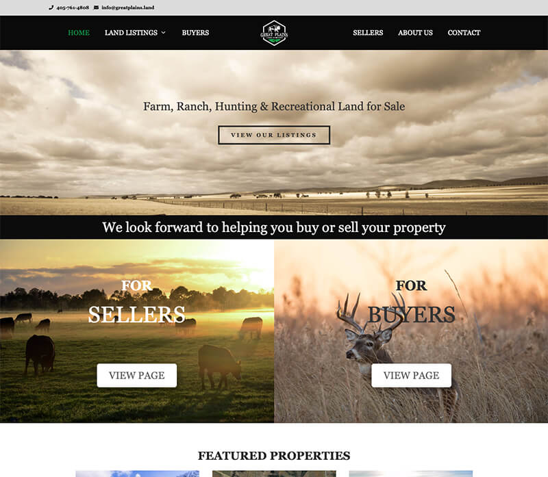 Great plains website design
