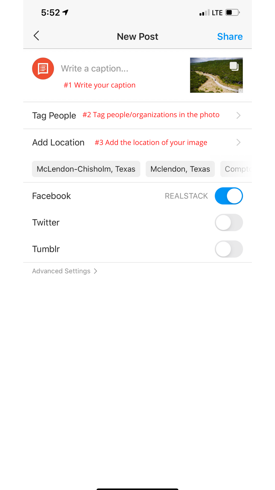 How to make an Instagram post